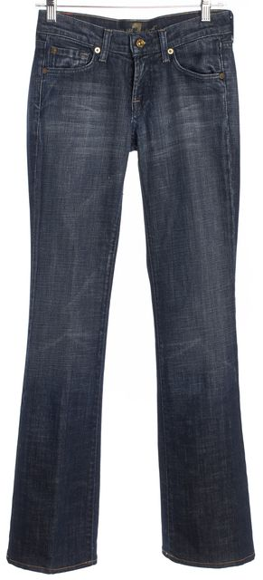 7 FOR ALL MANKIND Blue Boot Cut Classic Rise Jeans