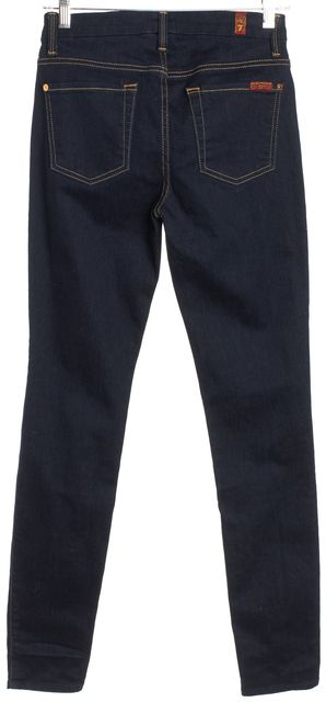 7 FOR ALL MANKIND Dark Blue The High Waist Skinny Jeans