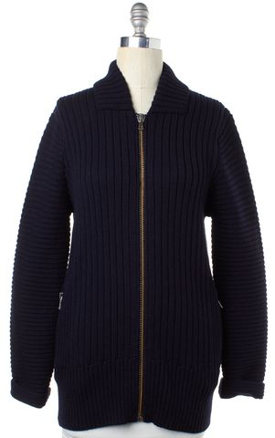 ACNE STUDIOS Navy Blue Wool Sweater Coats Size XS