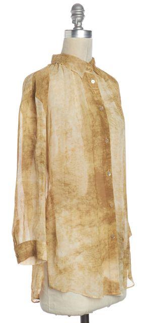 ACNE STUDIOS Beige White Tie Dye Silk Button Down Sheer Shirt