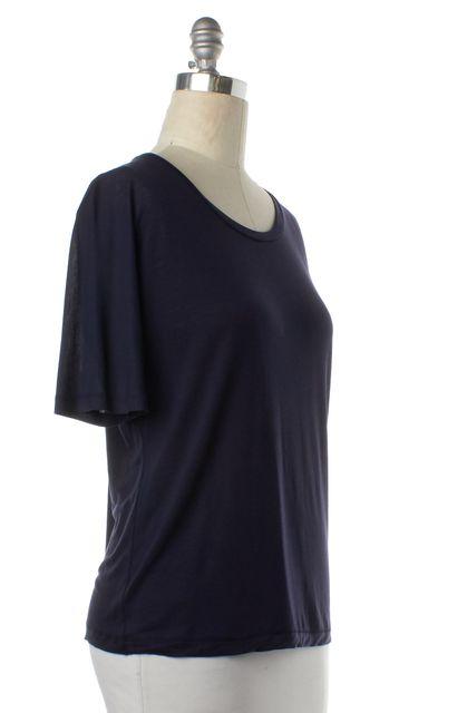 ACNE STUDIOS Navy Blue Sheer Crewneck T-Shirt