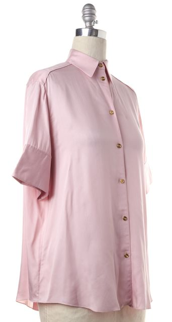ACNE STUDIOS Pink Addle Fluid Relaxed Fit Button Down Blouse Top
