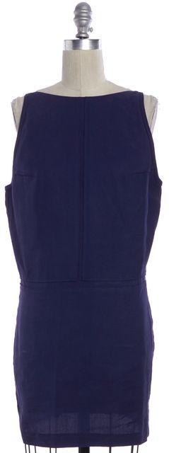 ACNE STUDIOS Navy Blue Tilda Fluid Low Back High Neck Shift Dress