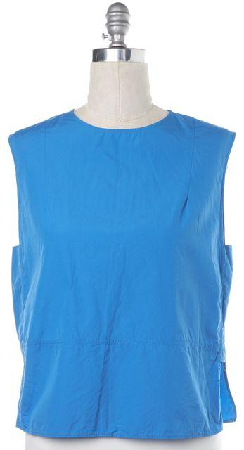 ACNE STUDIOS Blue Rasa Poplin Cotton Sleeveless Blouse Top