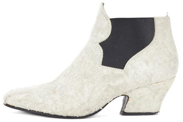 ACNE STUDIOS Light Gray Suede Ankle Boots