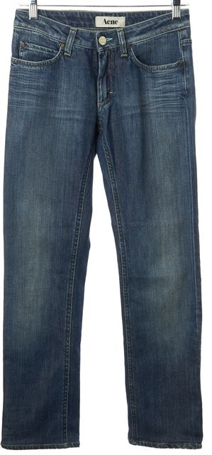 ACNE STUDIOS Blue Hep Pure Medium Wash Skinny Jeans