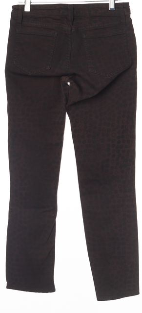 ACNE STUDIOS Purple Black Wine Kick Print Casual Slim Fit Skinny Jeans