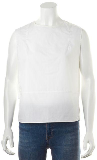 ACNE STUDIOS White Relaxed Fit Spilt Side Sleeveless Blouse Top