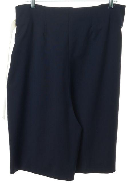ACNE STUDIOS Navy White Wool Free Tela Bermuda Casual Shorts
