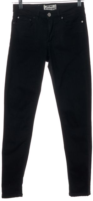 ACNE STUDIOS Lacey Black Denim Skin 5 Super Skinny Jeans