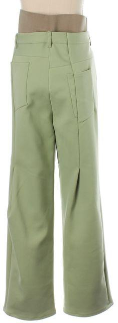 ACNE STUDIOS Mint Green Eli Bonded Pleated Dress Pants