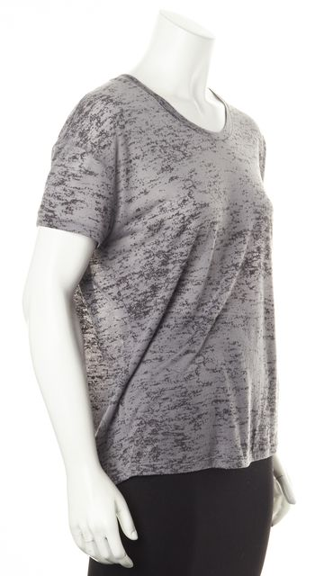 ACNE STUDIOS Gray Bay Burn Out Short Sleeve Basic T-Shirt