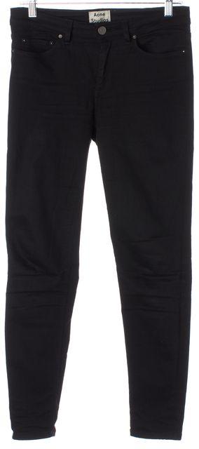 ACNE STUDIOS Black Denim Skin 5 Super Skinny Jeans