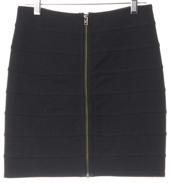 ACNE STUDIOS Blue Pop Classics Santillo Bodycon Zip Front Mini Skirt