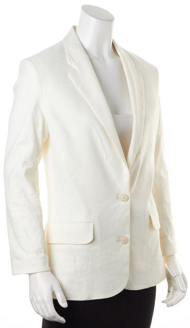 ACNE STUDIOS White Linen Two-Button Cindy Li Blazer Jacket
