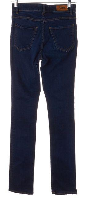 ACNE STUDIOS Blue High Waisted Needle Soft Raw Skinny Jeans