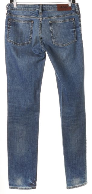 ACNE STUDIOS Blue Stretch Cotton Kex Vintage Skinny Jeans