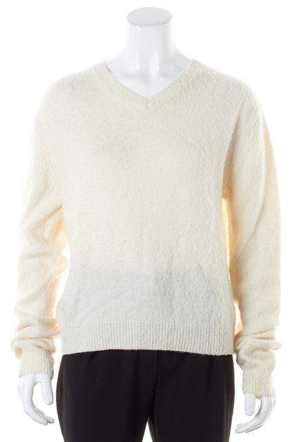 ACNE STUDIOS Ivory Wool Cashmere Tosca Pill-E V-Neck Sweater