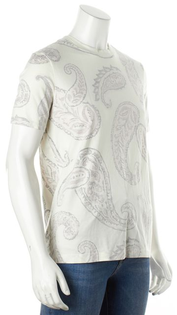 ACNE STUDIOS White Paisley Taline Paisley Graphic Tee T-Shirt
