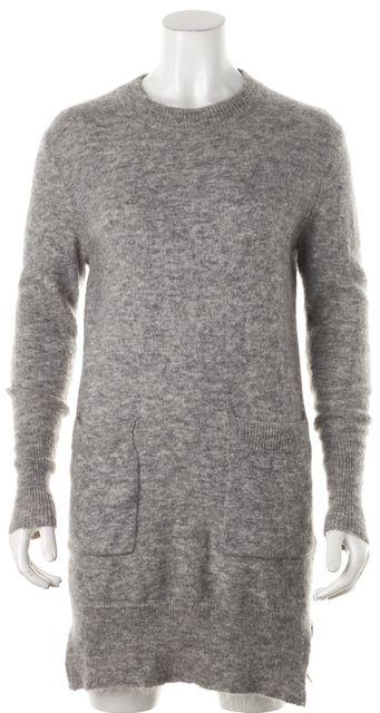 ACNE STUDIOS Gray Mohair Knit Raya Sweater Dress