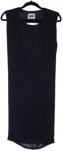 ACNE STUDIOS Black Sleeveless Draped Cutout Back Blouson Dress