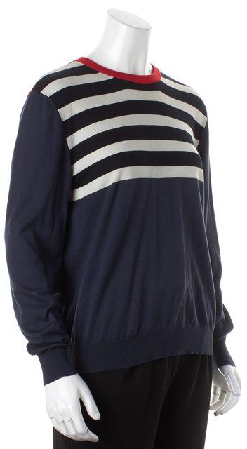 ACNE STUDIOS Multi-color Striped Silk Crewneck Sweater