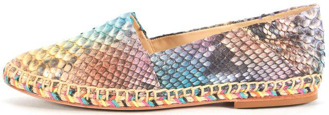 ALEXANDRE BIRMAN Rainbow Python Leather Espadrille
