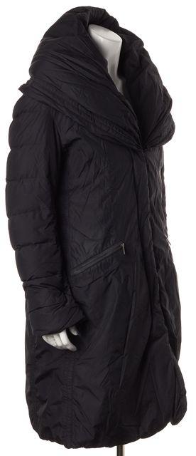 ADD Black Basic Hooded Coat Outerwear