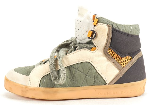 ADIDAS BY STELLA MCCARTNEY ADIDAS X STELLA MCCARTNEY Army Green Beige Nylon High Top Sneakers