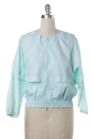 ADIDAS BY STELLA MCCARTNEY ADIDAS X STELLA MCCARTNEY Light Blue Windbreaker Jacket