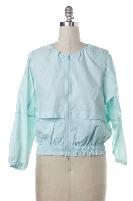 ADIDAS BY STELLA MCCARTNEY ADIDAS X STELLA MCCARTNEY Light Blue Windbreaker Jacket