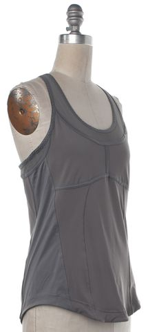 ADIDAS BY STELLA MCCARTNEY ADIDAS X STELLA MCCARTNEY Gray Athletic Racerback Tank Top