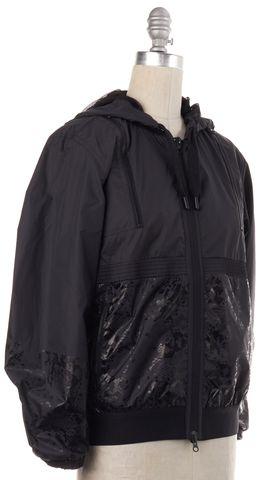 ADIDAS BY STELLA MCCARTNEY Gray Black Snake Print Zip Up Hooded Jacket