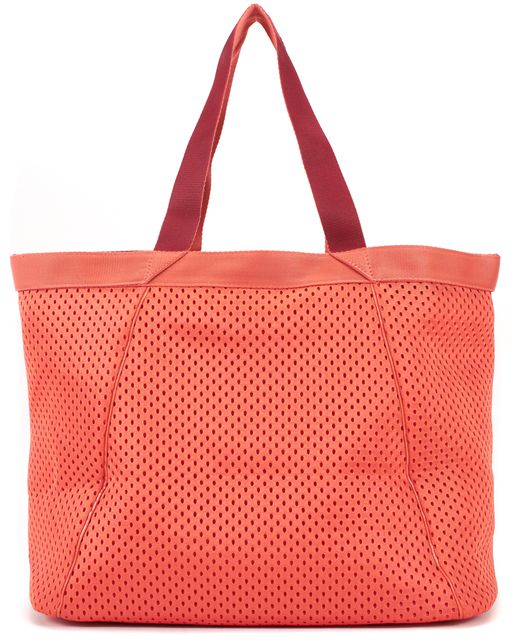 ADIDAS BY STELLA MCCARTNEY Neon Orange Mesh Swim Tote Shoulder Bag