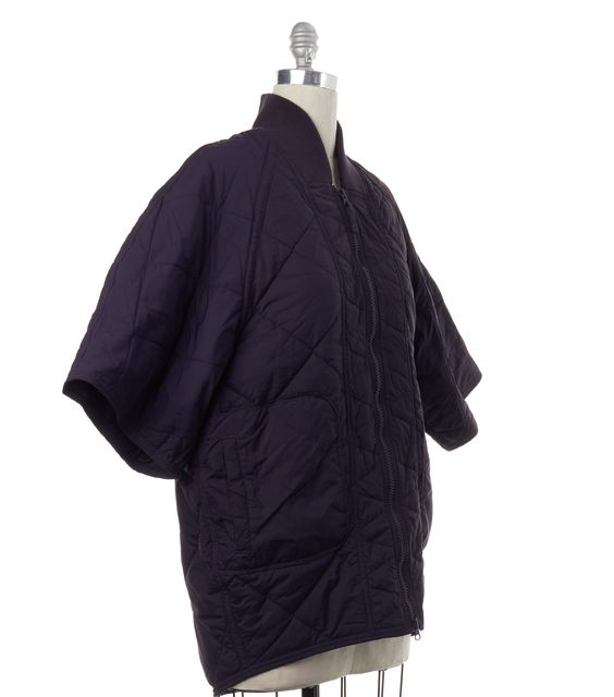 ADIDAS BY STELLA MCCARTNEY Purple Quilted Zip Up Jacket