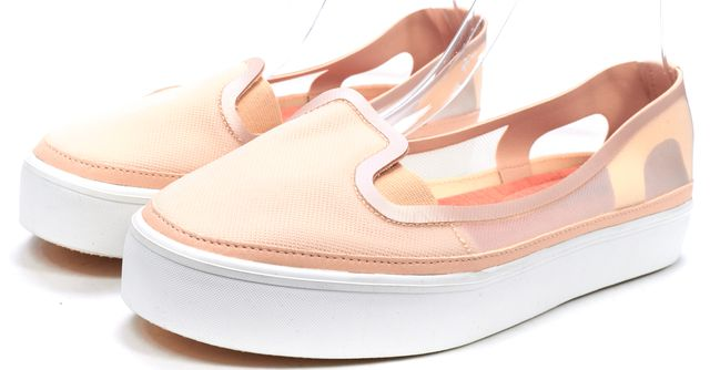 ADIDAS BY STELLA MCCARTNEY Pink Nude Mesh Slip On Platform Sneakers