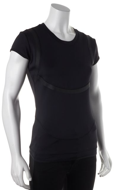 ADIDAS BY STELLA MCCARTNEY Black Knit Casual Sport Top