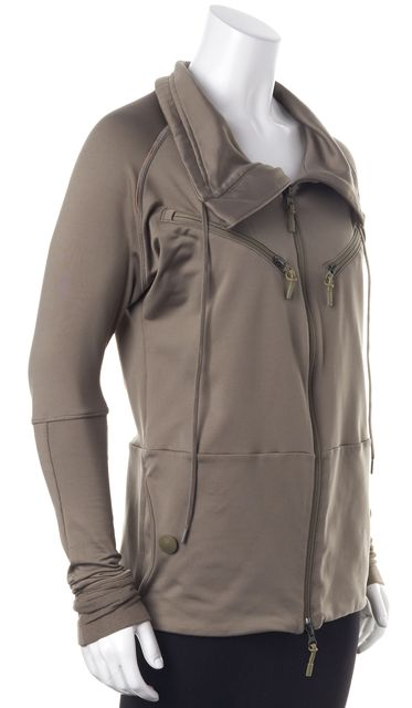 ADIDAS BY STELLA MCCARTNEY Beige Taupe Gray Zip-Up Athletic Basic Jacket S XS