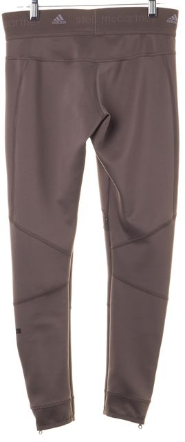 ADIDAS BY STELLA MCCARTNEY Taupe Gray Workout Athleisure Cropped Leggings