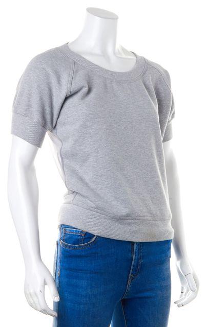 ADIDAS BY STELLA MCCARTNEY Gray Cotton Mesh Sweatshirt Top