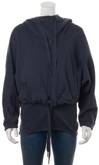 ADIDAS BY STELLA MCCARTNEY Purple Zip-Up Drawstring Hooded Sweater