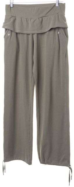 ADIDAS BY STELLA MCCARTNEY Beige Drawstring Ankle Casual Pants