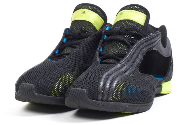 ADIDAS BY STELLA MCCARTNEY Black Blue Green Athletic Lace-Up Sneakers