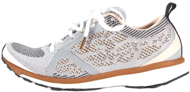 ADIDAS BY STELLA MCCARTNEY Metallic Gray Pink Mesh Carrie Over Sneakers
