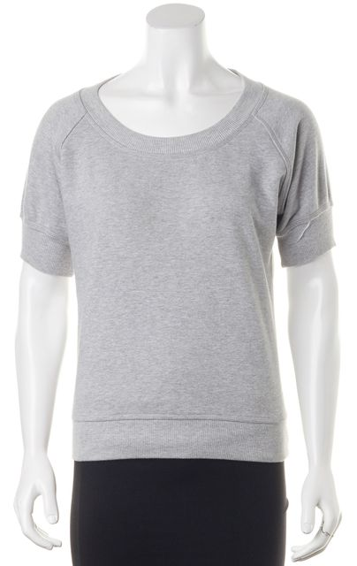 ADIDAS BY STELLA MCCARTNEY Heather Gray Sheer Back Top