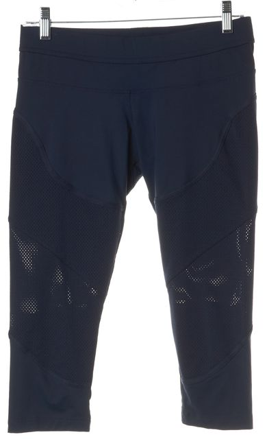 ADIDAS BY STELLA MCCARTNEY Navy Perforated Cropped Leggings