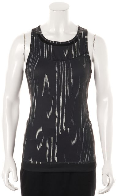 ADIDAS BY STELLA MCCARTNEY Gray Athletic Racerback Mesh Tank Top
