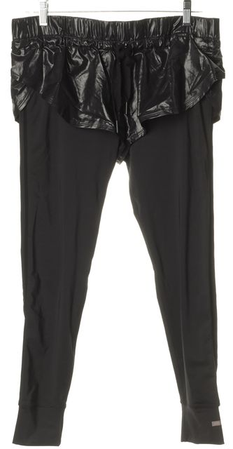 ADIDAS BY STELLA MCCARTNEY Black Athletic Shorts With Legging Pants