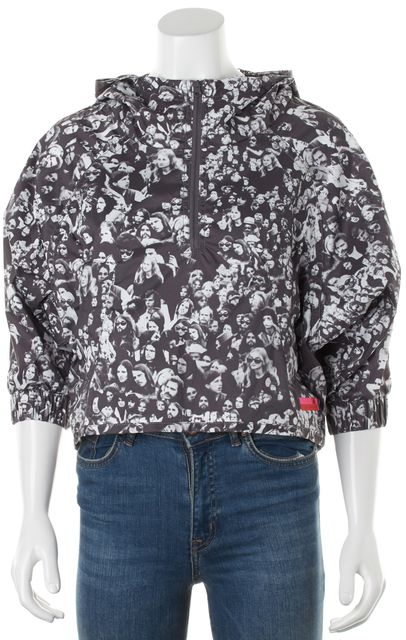 ADIDAS BY STELLA MCCARTNEY Gray Photo Print Pullover Windbreaker Jacket