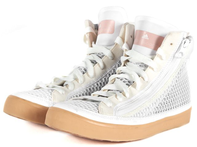 ADIDAS BY STELLA MCCARTNEY White Mesh Psittaci High-Top Sneakers
